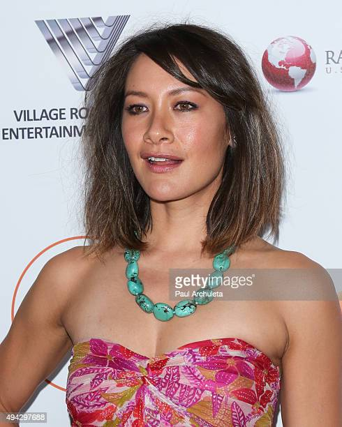 Actress Peta Sergeant attends the 4th Annual Australians In Film Awards Benefit Dinner and Gala at The InterContinental Hotel on October 25 2015 in...