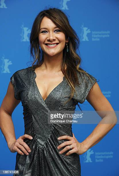 Actress Peta Sergeant attends the Iron Sky Photocall during day three of the 62nd Berlin International Film Festival at the Grand Hyatt on February...