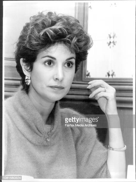 Actress Peta Toppano at the Market Place restaurant in the Hilton City July 21 1986