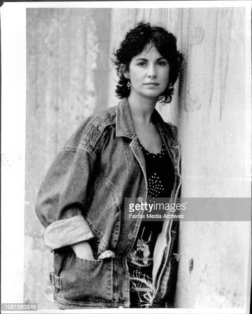 Actress Peta Toppano Balmain March 27 1987