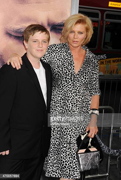 Actress Peta Wilson and Marlowe Harris Wilson arrive at the Los Angeles  premiere of 'The