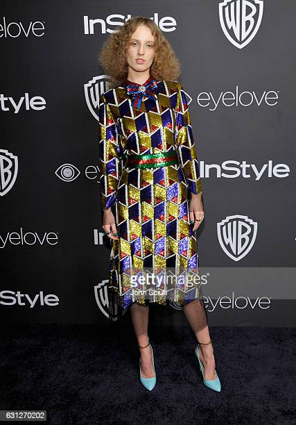 Actress Petra Collins attends The 2017 InStyle and Warner Bros 73rd Annual Golden Globe Awards PostParty at The Beverly Hilton Hotel on January 8...