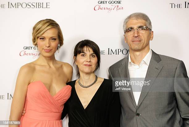 Actress Petra Nemcova Maria Belon and her husband Enrique attend the Los Angeles Premiere of The Impossible presented by Grey Goose Vodka at ArcLight...
