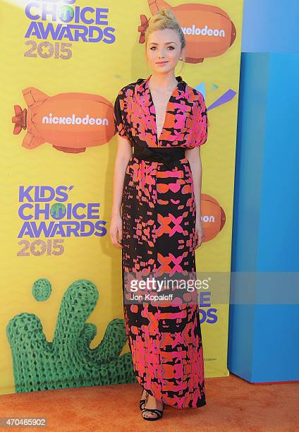 Actress Peyton List arrives at Nickelodeon's 28th Annual Kids' Choice Awards at The Forum on March 28 2015 in Inglewood California