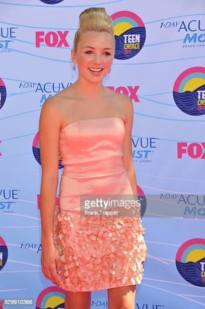 Actress Peyton List arrives at the 2012 Teen Choice Awards held at the Gibson Amphitheatre in Universal City California