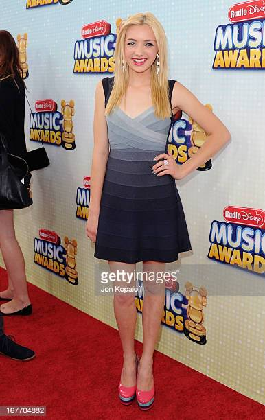 Actress Peyton List arrives at the 2013 Radio Disney Music Awards at Nokia Theatre LA Live on April 27 2013 in Los Angeles California