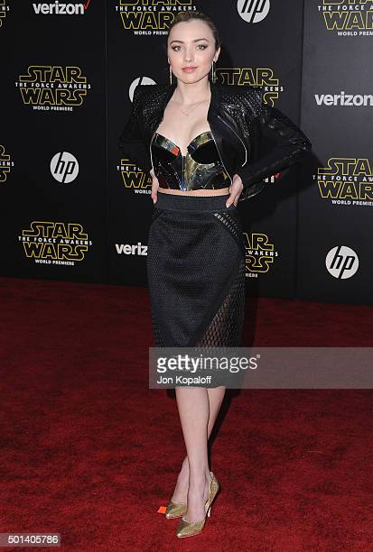 Actress Peyton List arrives at the Los Angeles Premiere 'Star Wars The Force Awakens' on December 14 2015 in Hollywood California