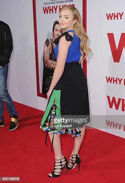 Actress Peyton List arrives at the Los Angeles Premiere Why Him at Regency Bruin Theater on December 17 2016 in Westwood California