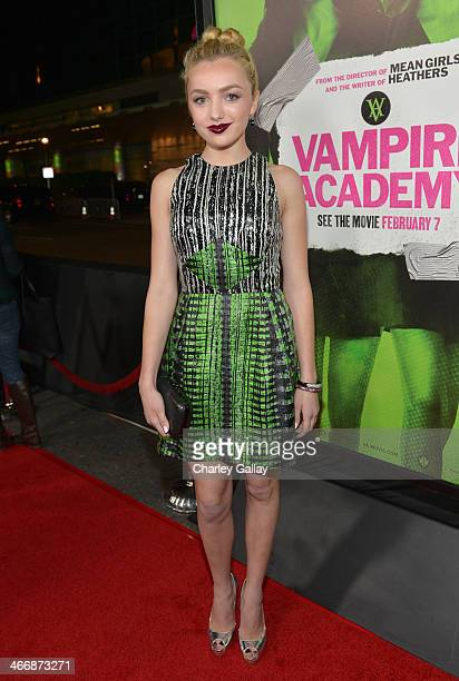 Actress Peyton List arrives at The Weinstein Company's premiere of 'Vampire Academy' at Regal 14 at LA Live Downtown on February 4 2014 in Los...