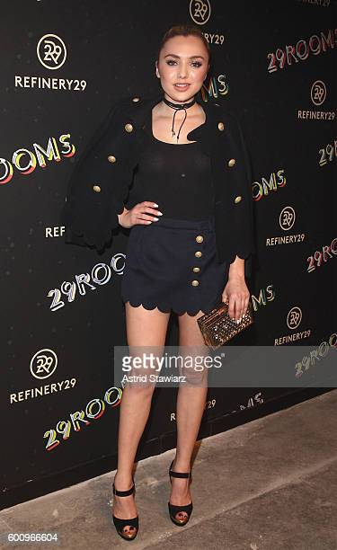 Actress Peyton List attends Refinery29's Second Annual New York Fashion Week Event '29Rooms' on September 8 2016 in Brooklyn New York