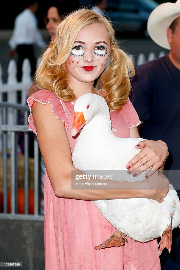 Actress Peyton List attends the 2012 'Dream Halloween' presented by Keep A Child Alive at Barker Hangar on October 27, 2012 in Santa Monica, California.
