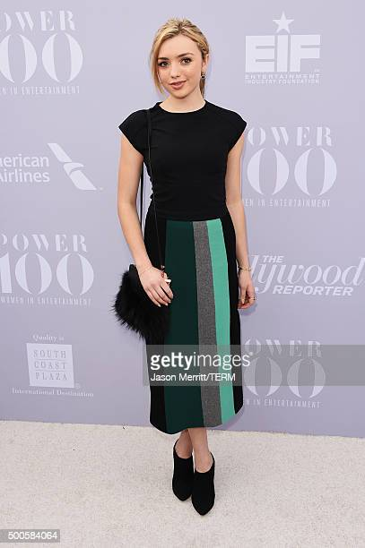 Actress Peyton List attends the 24th annual Women in Entertainment Breakfast hosted by The Hollywood Reporter at Milk Studios on December 9 2015 in...
