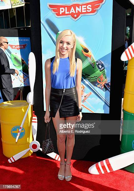 "Actress Peyton List attends the World Premiere of ""Disney's Planes"" at the El Capitan Theatre on Aug 5 in Hollywood California"