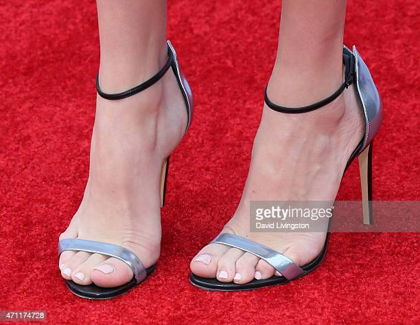 Actress Peyton List shoe detail attends the 2015 Radio Disney Music Awards at Nokia Theatre LA Live on April 25 2015 in Los Angeles California