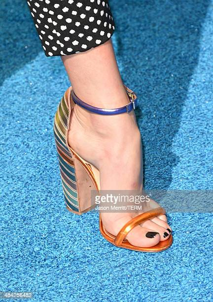 Actress Peyton List shoe detail attends the Teen Choice Awards 2015 at the USC Galen Center on August 16 2015 in Los Angeles California