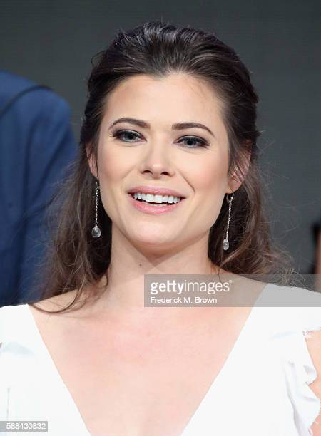 Actress Peyton List speaks onstage at the 'Frequency' panel discussion during The CW portion of the 2016 Television Critics Association Summer Tour...