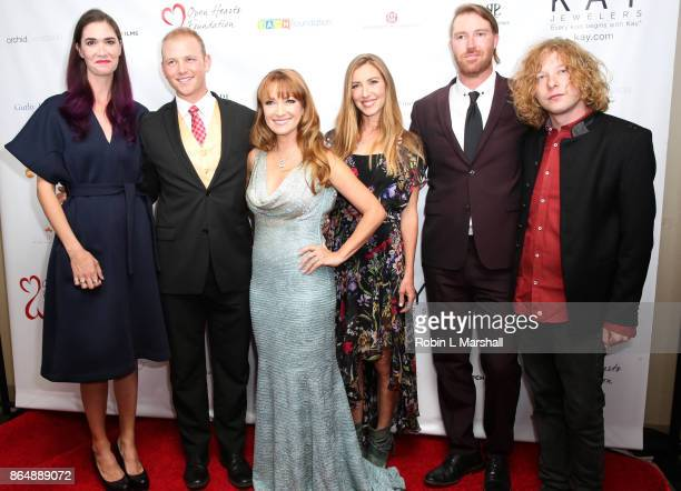 Actress /Philanthropist Jane Seymour and kids Jenny Kristopher Katie Sean and Johnny attend the 2017 Open Hearts Gala at SLS Hotel on October 21 2017...