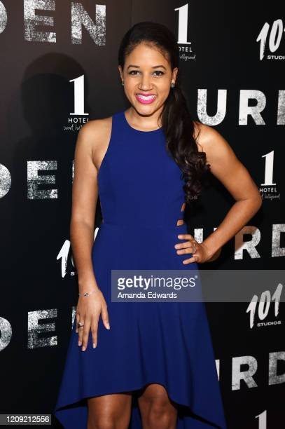 Actress Philicia Saunders arrives at the premiere of Burden at the Silver Screen Theater at the Pacific Design Center on February 27 2020 in West...