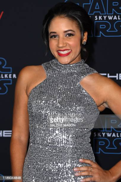 US actress Philicia Saunders arrives for the world premiere of Disney's Star Wars Rise of Skywalker at the TCL Chinese Theatre in Hollywood...