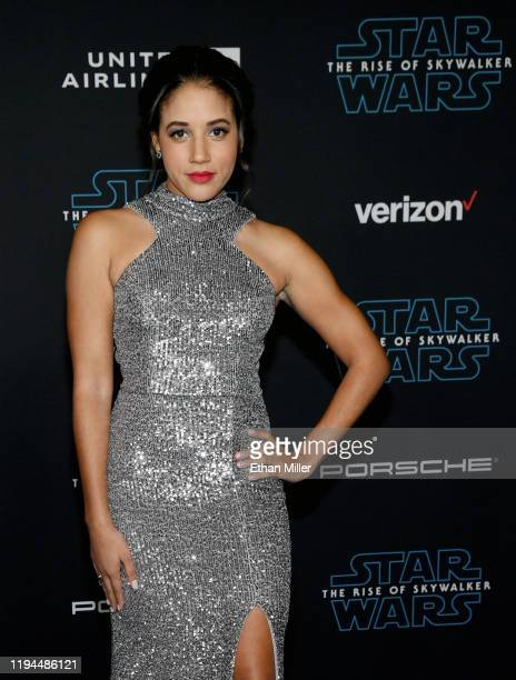 Actress Philicia Saunders attends the premiere of Disney's Star Wars The Rise of Skywalker on December 16 2019 in Hollywood California