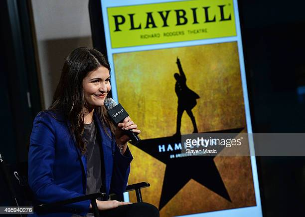 Actress Phillipa Soo visits AOL BUILD to talk about her role in the Broadway hit 'Hamilton' at AOL Studios In New York on November 5 2015 in New York...