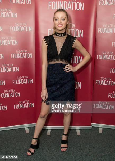 """Actress Phoebe Dynevor attends SAG-AFTRA Foundation's Conversations with """"Snatch"""" at SAG-AFTRA Foundation Screening Room on March 7, 2017 in Los..."""