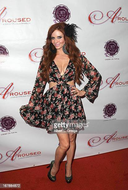 Actress Phoebe Price arrives for the Premiere Of 'Aroused' held at Landmark Nuart Theatre on May 1 2013 in Los Angeles California