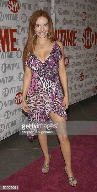 Actress Phoebe Price attends Showtime's 'The LWorld' second season premiere at The Directors Guild of America on February 16 2005 in Los Angeles...