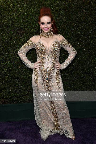 Actress Phoebe Price attends the 23rd Annual Elton John AIDS Foundation Academy Awards Viewing Party on February 22 2015 in Los Angeles California