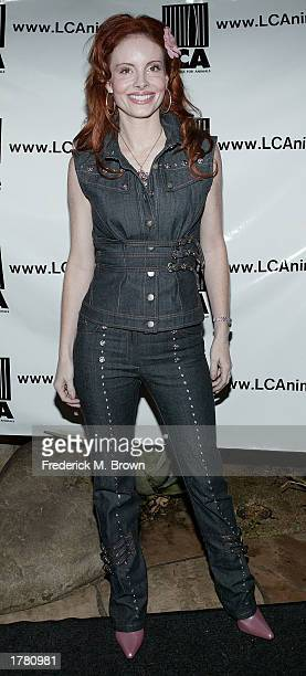 Actress Phoebe Price attends the Last Chance For Animals fundraiser party on February 12 2003 in Los Angeles California The event benefits National...