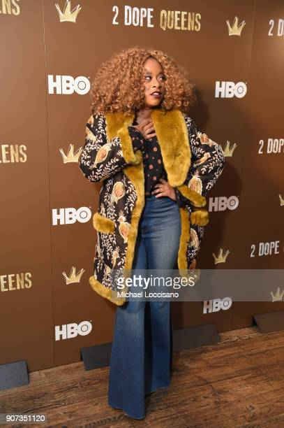 Actress Phoebe Robinson attends HBO's '2 Dope Queens' Winter Soiree during Sundance at Riverhorse On Main on January 19 2018 in Park City Utah