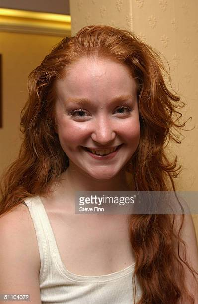 Actress Phoebe Thomas poses for pictures following the second night of Rebecca Hughes' play 'Final Judgement' at the Theatre Royal Windsor on July 21...