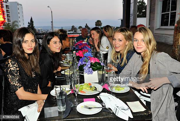 Actress Phoebe Tonkin Agent CAA Jessica Graboff tv personality Poppy Jamie and model Immy Waterhouse attend the Hilary Shor Tracy Brennan and IT...