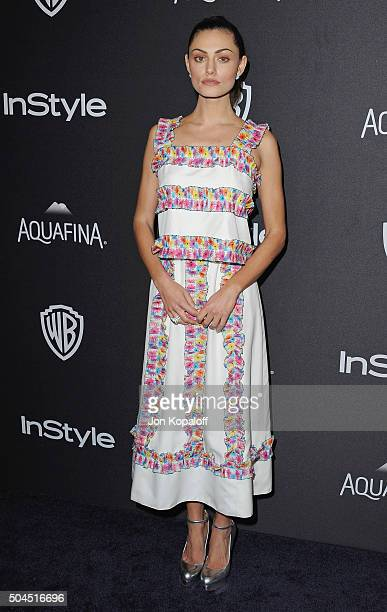 Actress Phoebe Tonkin arrives at the 2016 InStyle And Warner Bros 73rd Annual Golden Globe Awards PostParty at The Beverly Hilton Hotel on January 10...