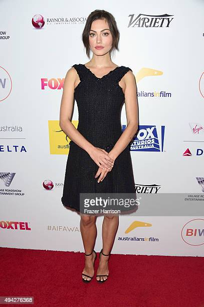 Actress Phoebe Tonkin arrives at the 4th Annual Australians In Film Awards Benefit Dinner And Gala at InterContinental Hotel on October 25 2015 in...