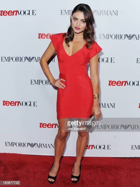 Actress Phoebe Tonkin arrives at the Teen Vogue's 10th Anniversary Annual Young Hollywood Party on September 27 2012 in Beverly Hills California