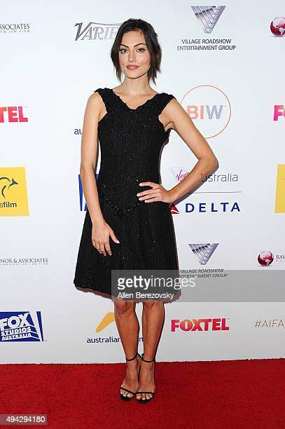 Actress Phoebe Tonkin attends the 4th Annual Australians in Film Awards Benefit Dinner and Gala at InterContinental Hotel on October 25 2015 in...