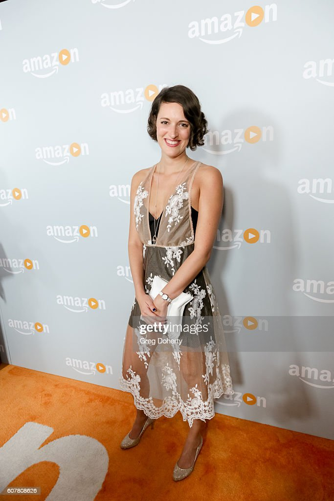 Actress Phoebe Waller-Bridge arrives at the Amazon's Emmy Celebration at the Sunset Tower Hotel on September 18, 2016 in West Hollywood, California.