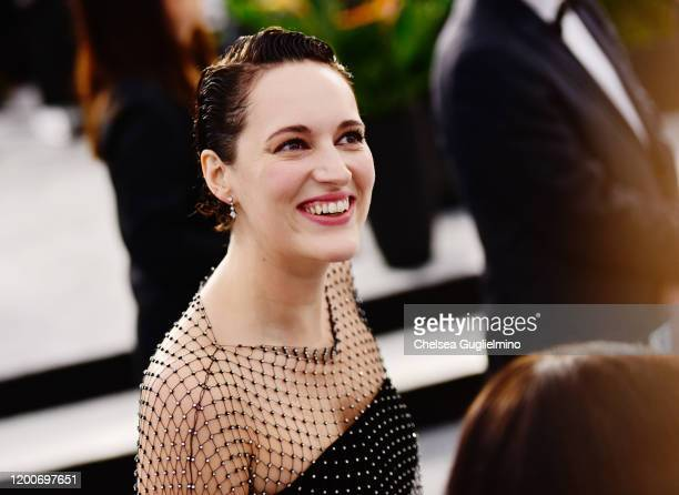 Actress Phoebe Waller-Bridge attends the 26th annual Screen ActorsGuild Awards at The Shrine Auditorium on January 19, 2020 in Los Angeles,...