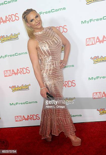 Actress Phoenix Marie arrives at the 2017 Adult Video News Awards held at the Hard Rock Hotel Casino on January 21 2017 in Las Vegas Nevada