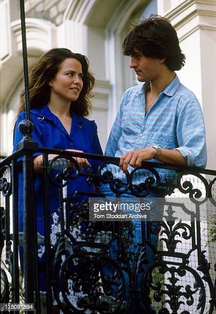 Actress photographer and one time girlfriend of Prince Andrew Koo Stark pictured with Tim Jeffries who she married in 1986 and divorced in 1990