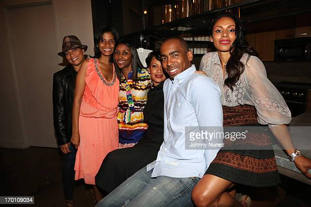 Actress/ photographer Chenoa Maxwell stylist Jason Bolden and guests attend Leaders Of The New Cool at Canoe Studios on June 6 2013 in New York City