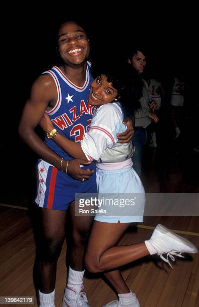 """Actress Phylicia Rashad and Malcolm Jamal Warner attending """"Franciscan Games"""" on September 26, 1987 at Madison Square Garden in New York City, New..."""