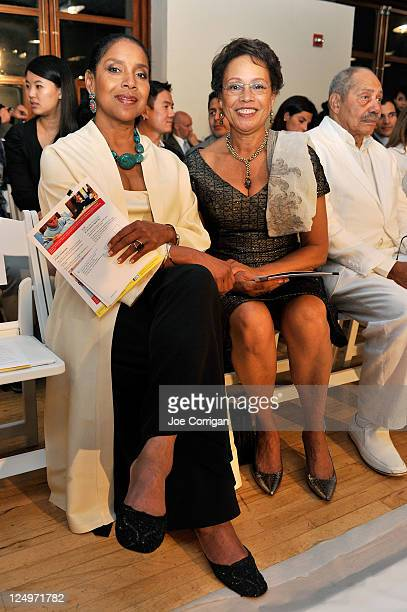 Actress Phylicia Rashad and Myrna Colley-Lee attend the B Michael America Spring 2012 fashion show during Mercedes-Benz Fashion Week at West 79th at...