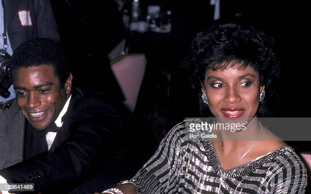 Actress Phylicia Rashad and sportscaster Ahmad Rashad attending the premiere party for That's Dancing on January 13 1986 at the New York Hilton Hotel...