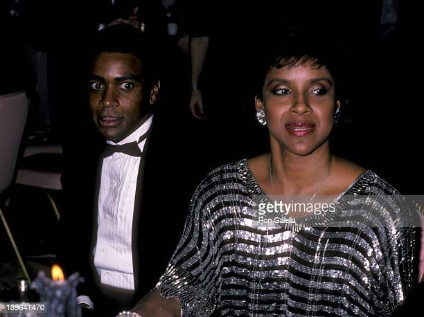 """Actress Phylicia Rashad and sportscaster Ahmad Rashad attending the premiere party for """"That's Dancing"""" on January 13, 1986 at the New York Hilton..."""
