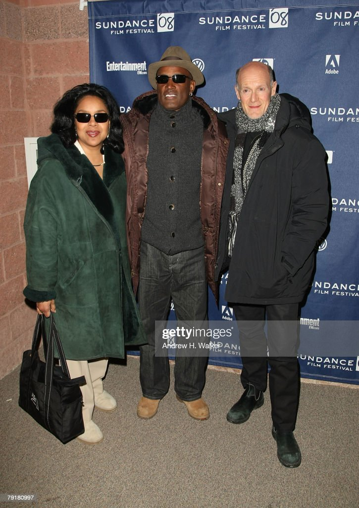 Actress Phylicia Rashad, director Kenny Leon, and producer Neil Meron arrive at the premiere of 'A Raisin in the Sun' held at the Eccles Theatre during the 2008 Sundance Film Festival on January 23, 2008 in Park City, Utah.