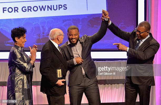 Actress Phylicia Rashad producer Irwin Winkler director Ryan Coogler and actor Carl Weathers onstage at the AARP's 15th Annual Movies For Grownups...