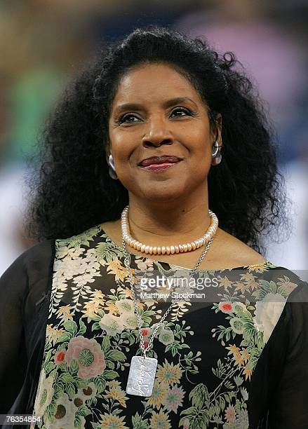 Actress Phylicia Rashad speaks during a tribute to Althea Gibson as part of the opening ceremonies for the 2007 U.S. Open at the Billie Jean King...