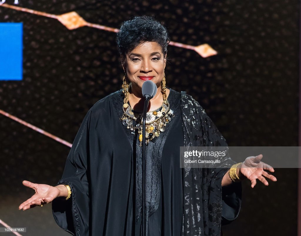 Actress Phylicia Rashad speaks on stage during the 2018 Black Girls Rock! at New Jersey Performing Arts Center on August 26, 2018 in Newark, New Jersey.